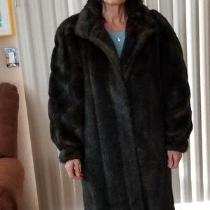 Jackets & Blazers - Full length fake fur coat